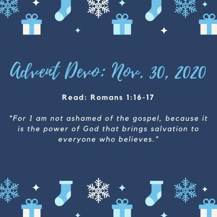 Advent Devotional: Nov.30